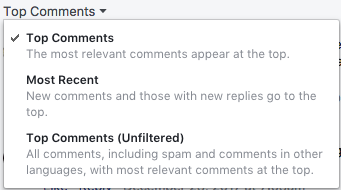 Facebook Comments Context Menu, which includes an option to hide SPAM comments.
